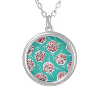 Collier Motif de rose de Teal