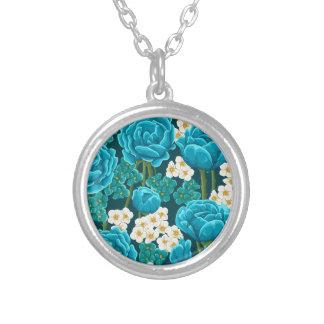 Collier Motif illustré rétro par cru de fleur de rose de