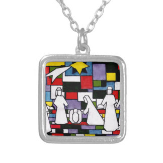 Collier Nativité de Mondrian - de Stijl - Neoplasticism