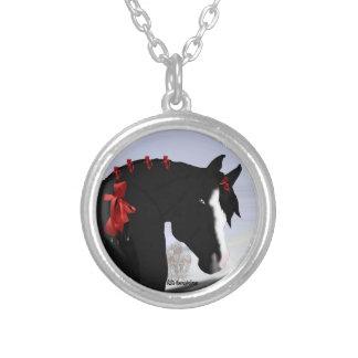 Collier Noël Arabe noir de cheval