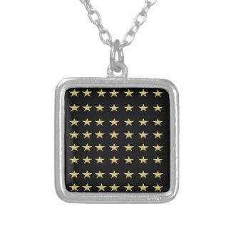 Collier Noir d'étoiles chanceuses avec la conception