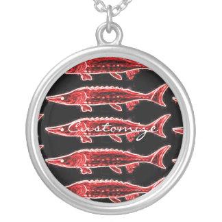 Collier noir rouge de Thunder_Cove d'esturgeons