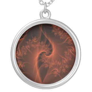 Collier orange brûlant de torsion