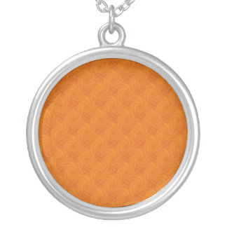Collier orange de spirale de Contrail