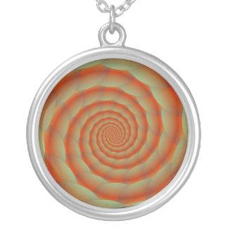 Collier orange de spirale de peau de serpent