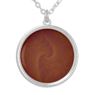 Collier orange rouge de torsion