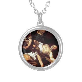 """Collier Peinture originale """"La crocifissione di s Pietro """""""