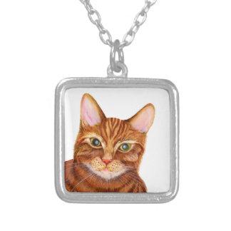 Collier Peinture pour aquarelle d'illustration de chat de