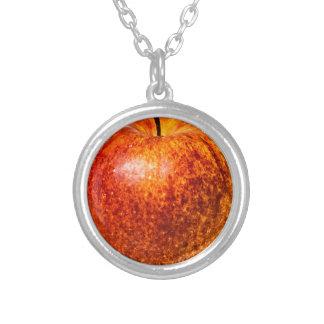 Collier pendant rond de pomme rouge