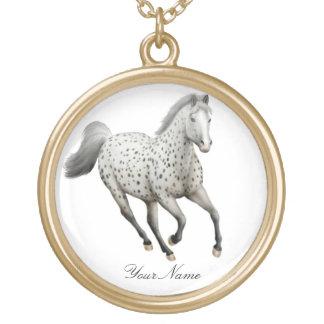 Collier personnalisable de cheval d'Appaloosa de