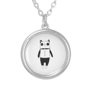 Collier Petit panda noir et blanc
