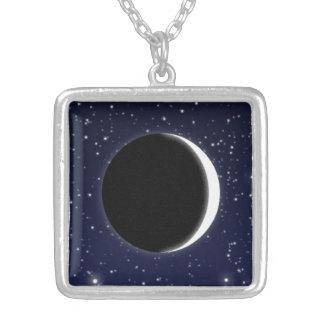 Collier Phases de la lune, nouvelle lune