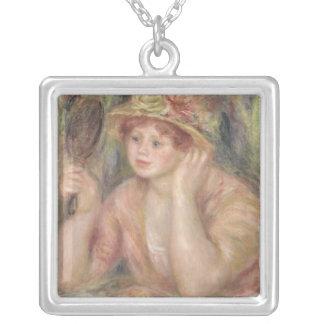 Collier Pierre une femme de Renoir | avec un miroir