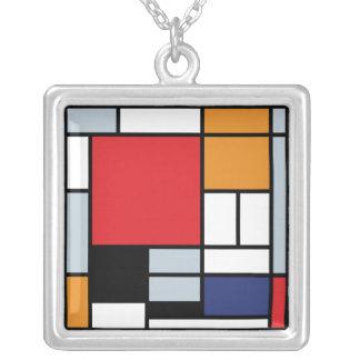 Collier Piet Mondrian - composition avec le grand avion
