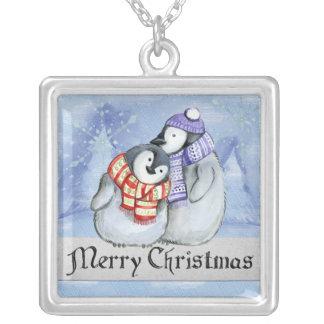 Collier Pingouins doux d'hiver de Joyeux Noël petits