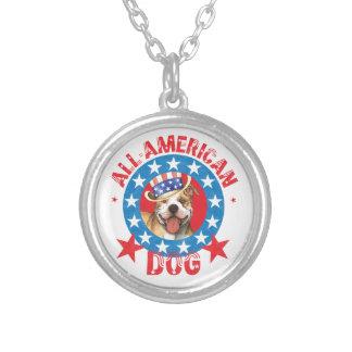 Collier Pitbull Terrier patriotique