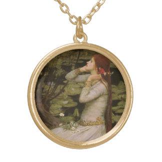 Collier Plaqué Or Art victorien, Ophélie par l'étang par le château