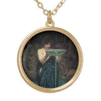 Collier Plaqué Or Beaux-arts victoriens, Circe Invidiosa par le