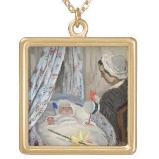 Collier Plaqué Or Claude Monet | le berceau, Camille avec le fils