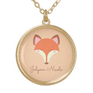 Collier Plaqué Or Fox de Kawaii