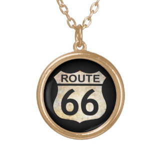 Collier Plaqué Or Itinéraire 66