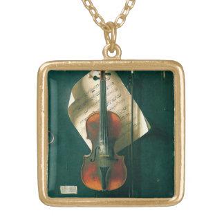 Collier Plaqué Or La vieille de violon toujours vie par Harnett,