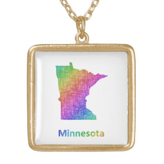 Collier Plaqué Or Le Minnesota