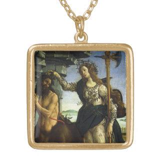 Collier Plaqué Or Pallas et le centaure par Sandro Botticelli