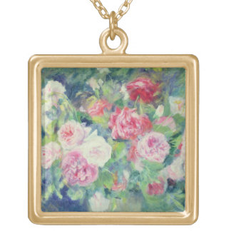 Collier Plaqué Or Pierre roses 2 de Renoir un |