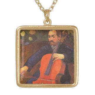 Collier Plaqué Or Portrait de Schneklud de joueur par Paul Gauguin