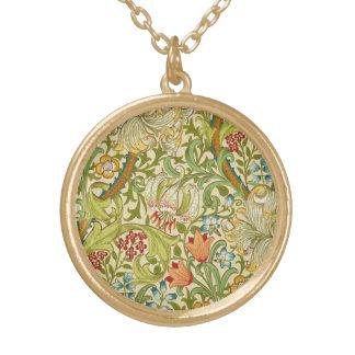 Collier Plaqué Or Pre-Raphaelite d'or de cru de lis de William