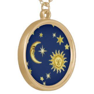 Collier Plaqué Or Sun, lune et étoiles