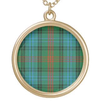 Collier Plaqué Or Tartan écossais de Ross de clan de talent