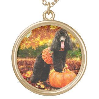 Collier Plaqué Or Thanksgiving de chute - Gidget - caniche