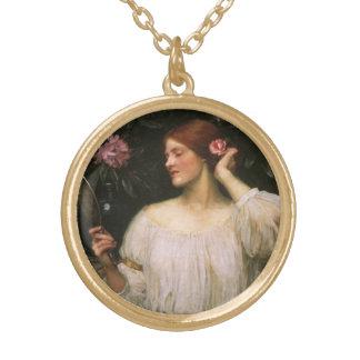 Collier Plaqué Or Vanité par le château d'eau, portrait victorien