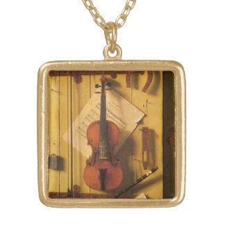 Collier Plaqué Or Violon et musique toujours de la vie par William