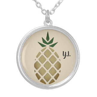 Collier Pochoir hawaïen tropical d'ananas (personnalisé)