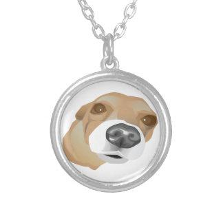 Collier Portrait illustré de vecteur d'un petit chien