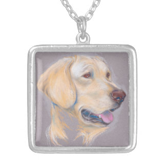 Collier Portrait jaune de labrador retriever
