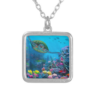 Collier Récif tropical hawaïen de poissons de tortue de