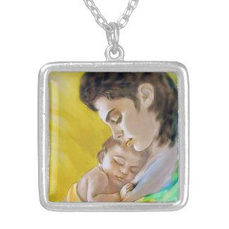 Collier Remorques avec l'image mère et enfant