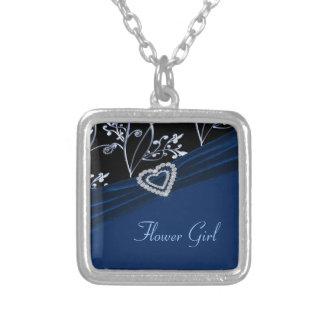 Collier Remous floraux de coeur bleu d'élégance