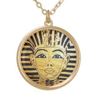 Collier rond de finition d'or de style égyptien