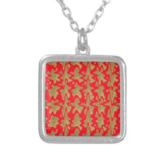 Collier Rouge de Goodluck et motif de Chinois d'or