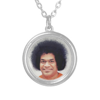 Collier Sathya Sai Baba plaqué par argent