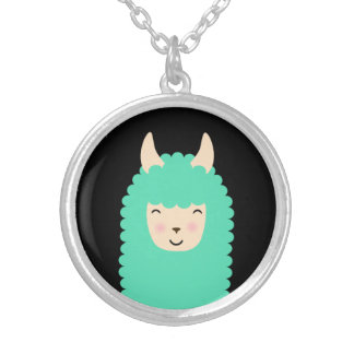 Collier semi-transparent d'Emoji de lama