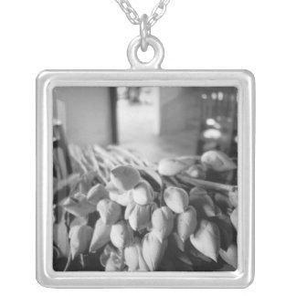 Collier Siem Reap Cambodge, fleurs de Lotus
