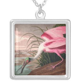 Collier Spatule rose d'Audubon
