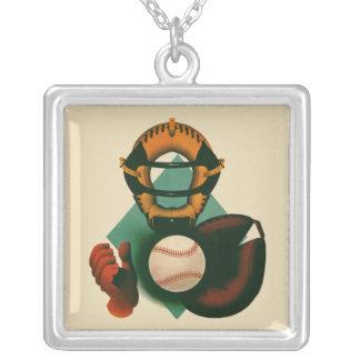 Collier Sports vintages, joueur de baseball, attrapeur