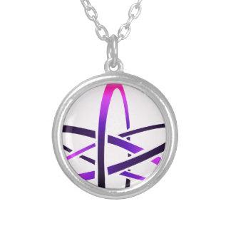 Collier Symbole athée rose